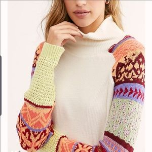 FREE PEOPLE Ivory Cowl Neck Sweater